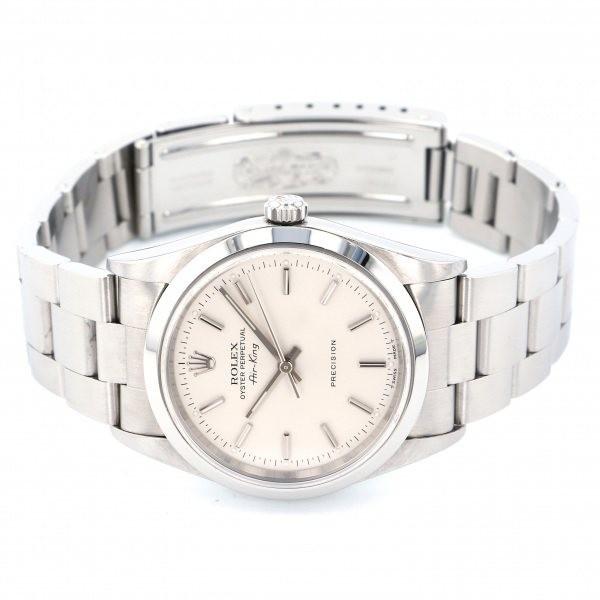 ロレックス ROLEX エアキング 14000 シルバー文字盤 中古 腕時計 メンズ_画像2