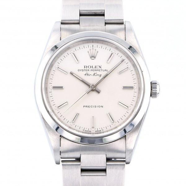 ロレックス ROLEX エアキング 14000 シルバー文字盤 中古 腕時計 メンズ_画像1