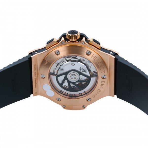 ウブロ HUBLOT ビッグバン ゴールド パヴェ 301.PX.130.RX.174 ブラック文字盤 中古 腕時計 メンズ_画像7