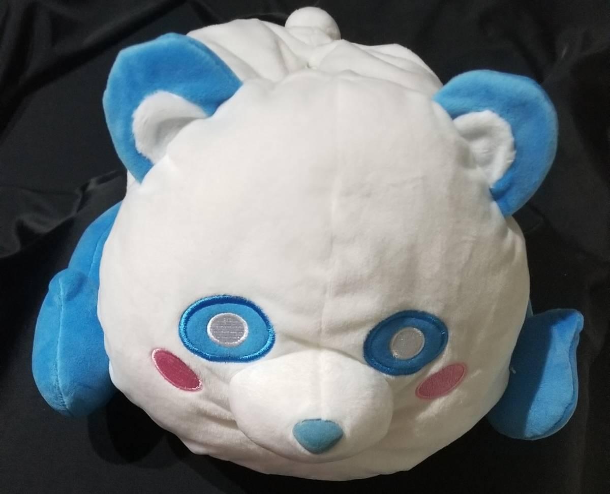 AAA え~パンダ 寝そべり ティッシュカバー ② ぬいぐるみ 與真司郎 ブルー 送料350円_画像1