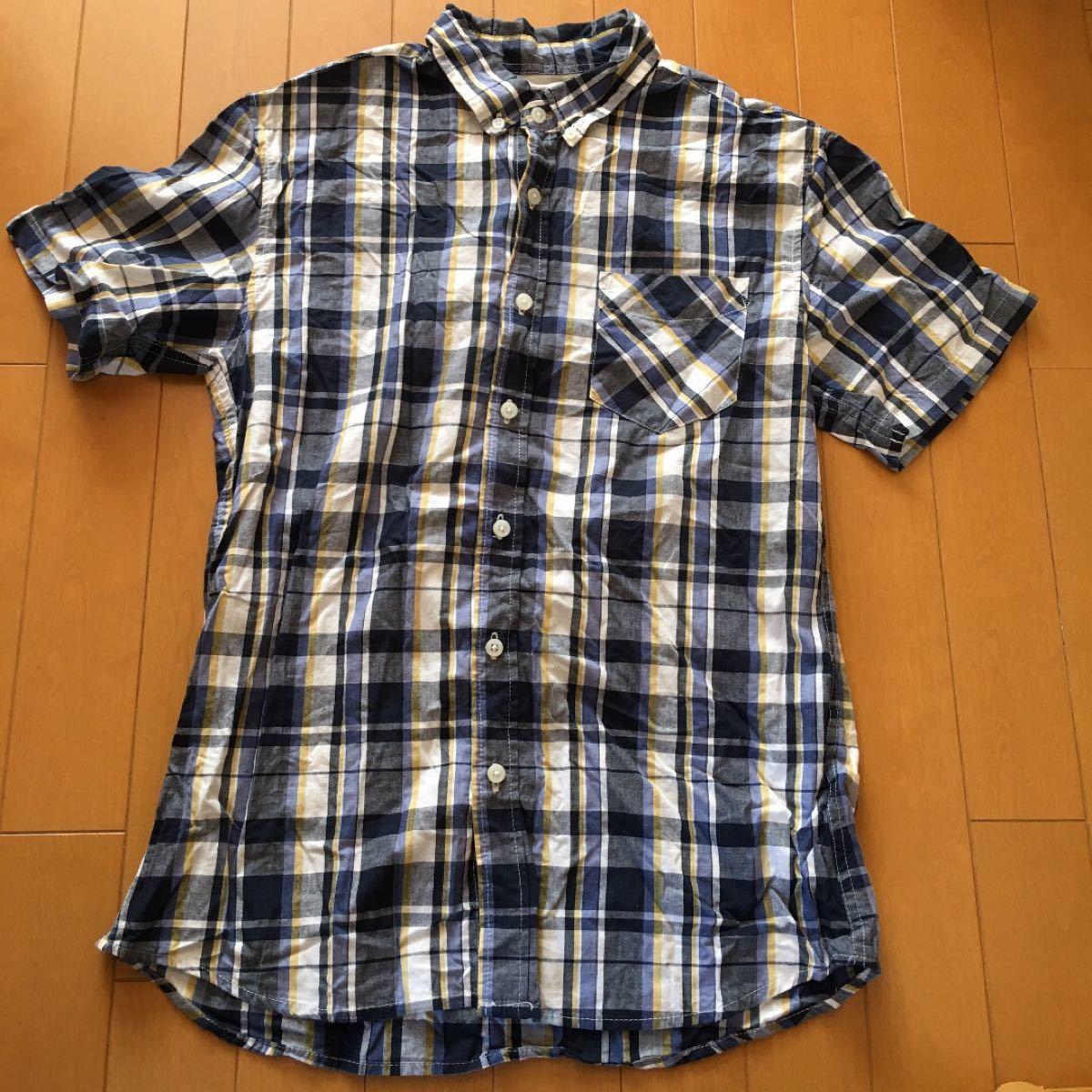 半袖シャツ チェックシャツ チェック柄 M