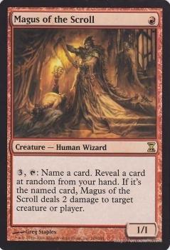 MTG 巻物の大魔術師 レア マジック:ザ・ギャザリング 時のらせん TSP-EN169 同梱可 ※英語版_《MTG》巻物の大魔術師/Magus of the Scrol