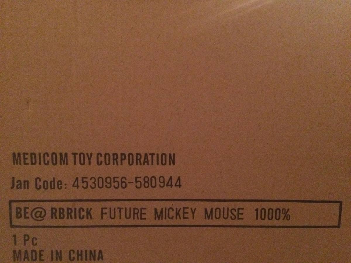 空山基/SORAYAMA FUTURE MICKEY MOUSE ベアブリック/BE@RBRICK 1000%(メディコムトイ・フィギュア・ミッキーマウス・ディズニー/Disney)_画像3