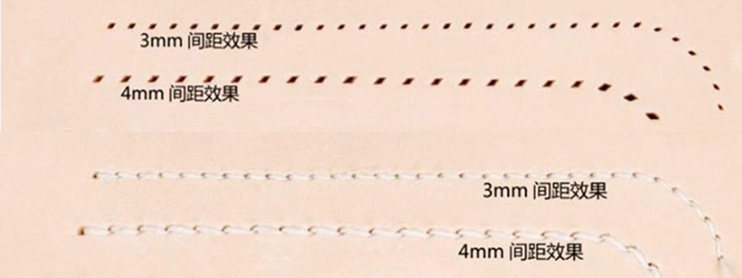 菱目打ち 4mmピッチ 4本セット 革 穴あけ レザークラフト工具