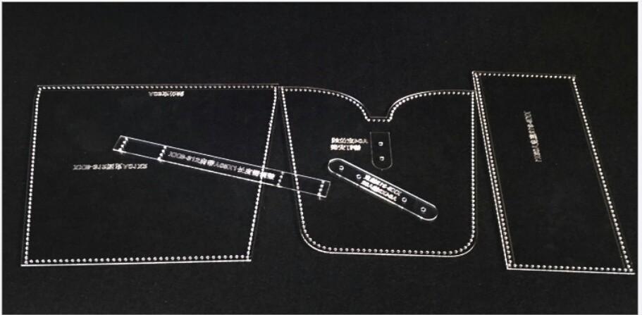 ショルダーバック アクリル型 レザークラフト 型紙
