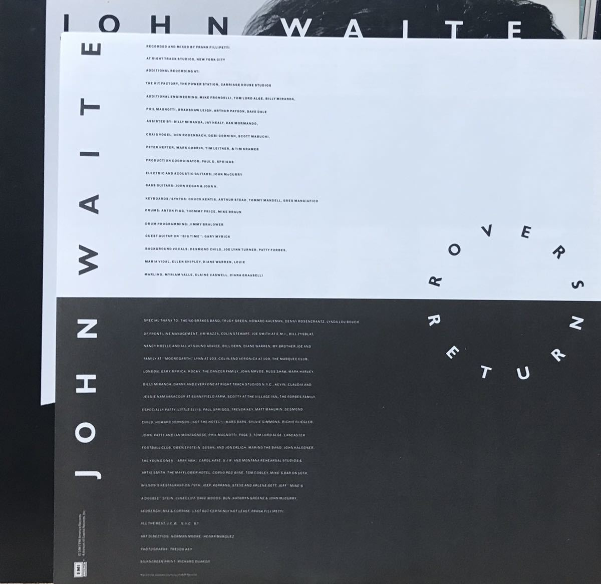見本盤 JOHN WAITE / ROVER'S RETURN アルバム 12inchサイズのレコード その他にもプロモーション盤 レア盤 人気レコード 多数出品中_画像5