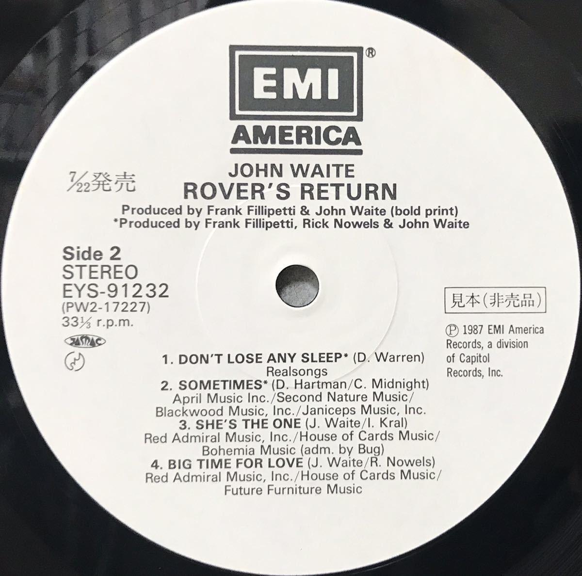 見本盤 JOHN WAITE / ROVER'S RETURN アルバム 12inchサイズのレコード その他にもプロモーション盤 レア盤 人気レコード 多数出品中_画像3