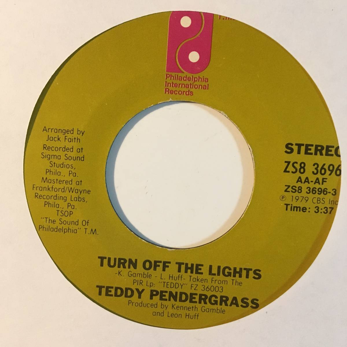 7'' Teddy Pendergrass Turn Off The Lights/If You Know Like I Know フリーソウル モダン ダンクラ free soul modern rare mellow groove_画像1
