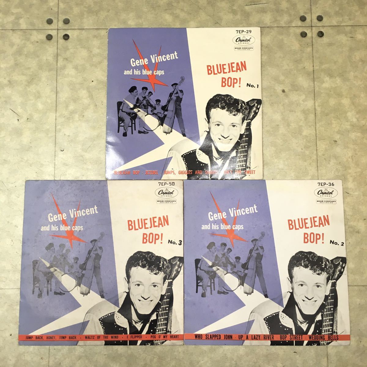 ☆EP☆国内盤☆ジーン・ヴィンセント これがロックン・ロール No.1~No.3 3枚まとめて Gene Vincent and his blue caps BLUEJEAN BOP!
