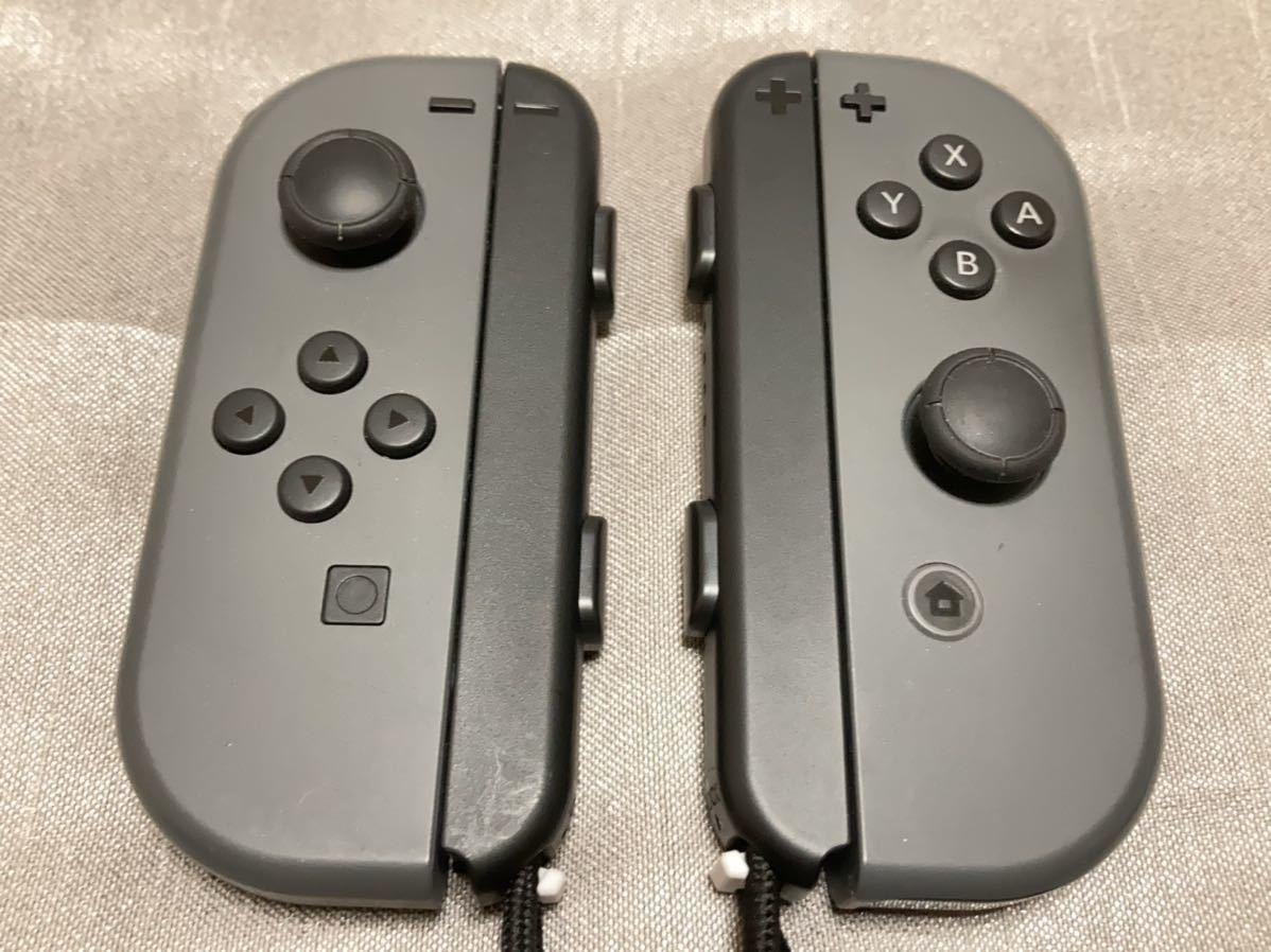 送料無料 動作確認済み 任天堂 Nintendo Switch スイッチ joy-con ジョイコン LRセット + - グレー