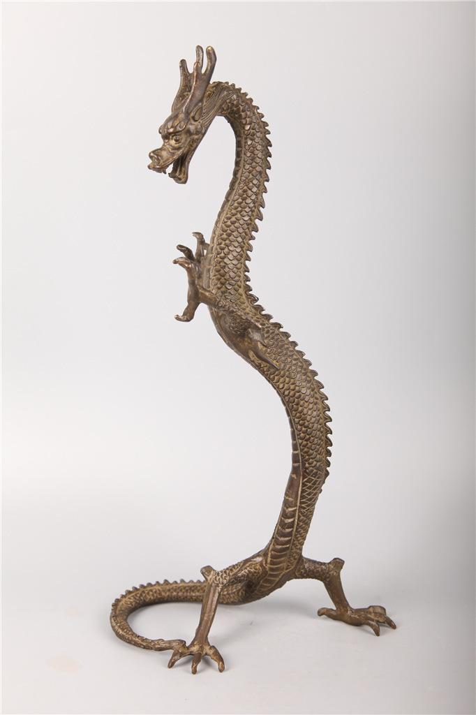 古銅置物 龍 時代美品
