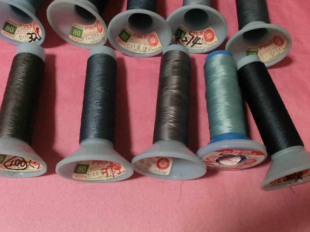 ポリエステルミシン糸カラー10個まとめ売り 新品 未使用_画像6