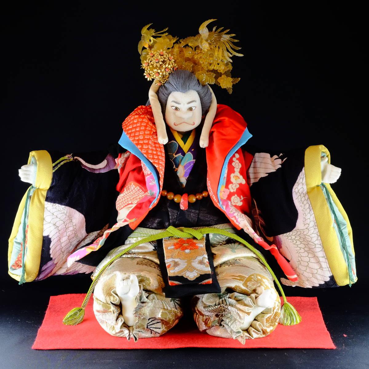 [昔々大松屋の創作人形] 童神(わらべがみ)[検索/ぶす姫さま 古布 縮緬 ちりめん 日本人形 かんざし ひな人形 雛 つまみ細工 市松人形)