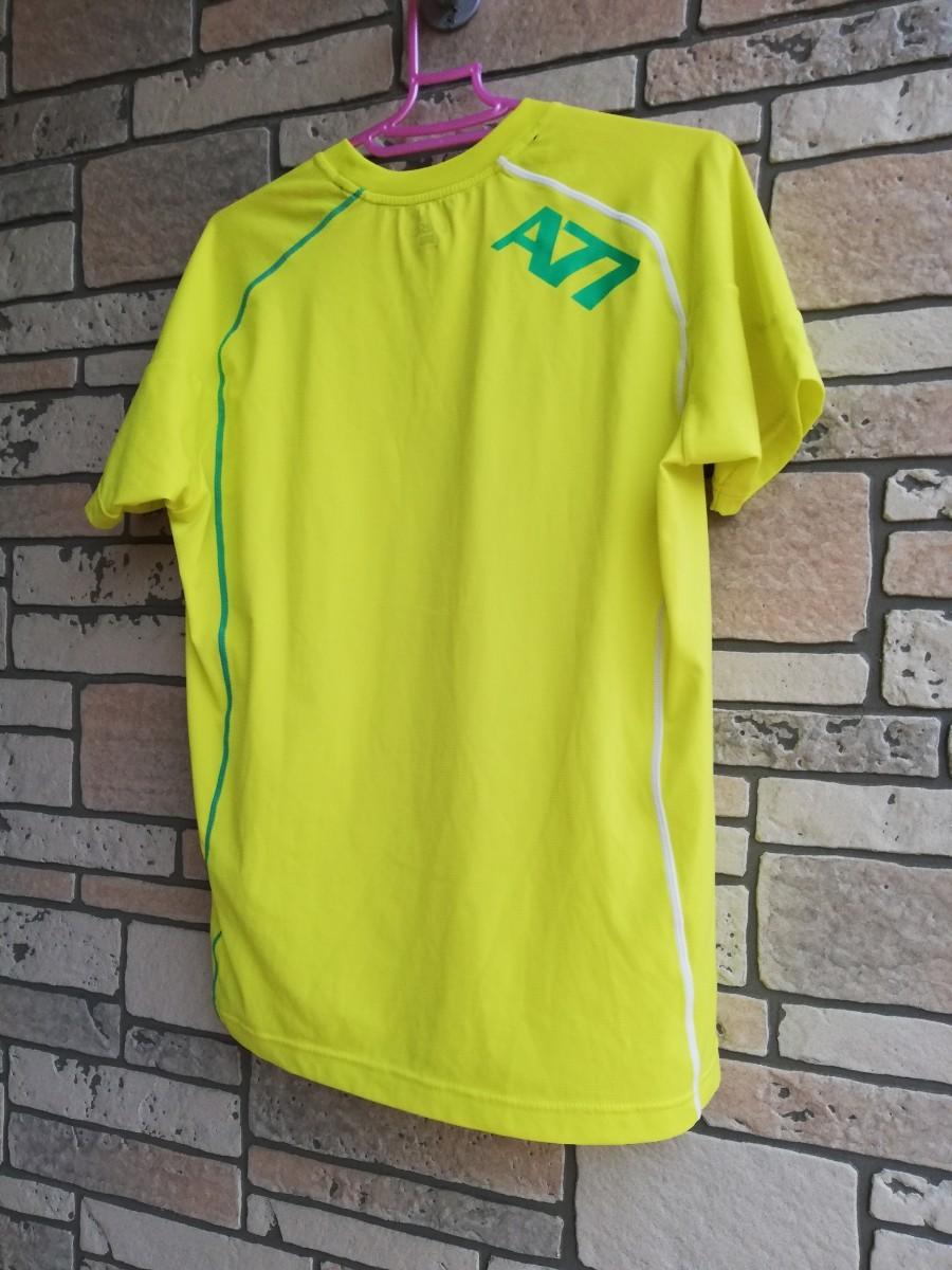 アシックス A77Tシャツ イエロー