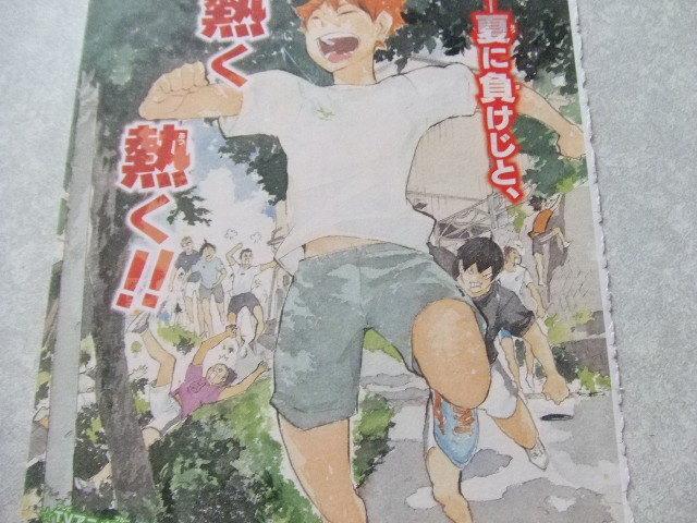 【即決】ハイキュー  第116話  カラーページ  切り抜き_画像2