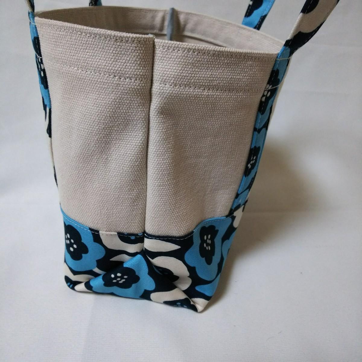 帆布ミニトートバッグ ハンドメイド