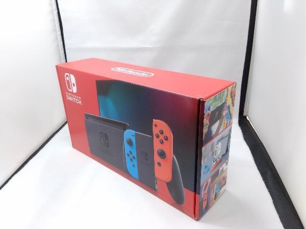 Nintendo Switch Joy-Con(L) ネオンブルー/(R) ネオンレッド(HADSKABAA)(バッテリー拡張モデル)_画像1
