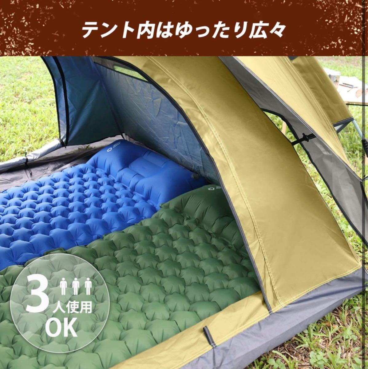 テント ワンタッチ 六厚手 二重層 防水防風 耐水圧3000mm  2~3人用