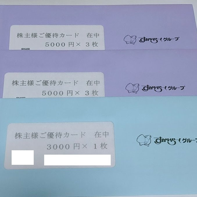 最新送料無料 すかいらーく 株主優待券 33000円分 2021年9月30日まで有効 未開封_画像1