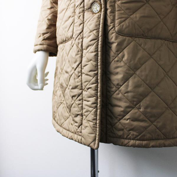 MACKINTOSH マッキントッシュ スコットランド製 グランジボア キルティング コート 34/ベージュ アウター【2400011934130】_画像5