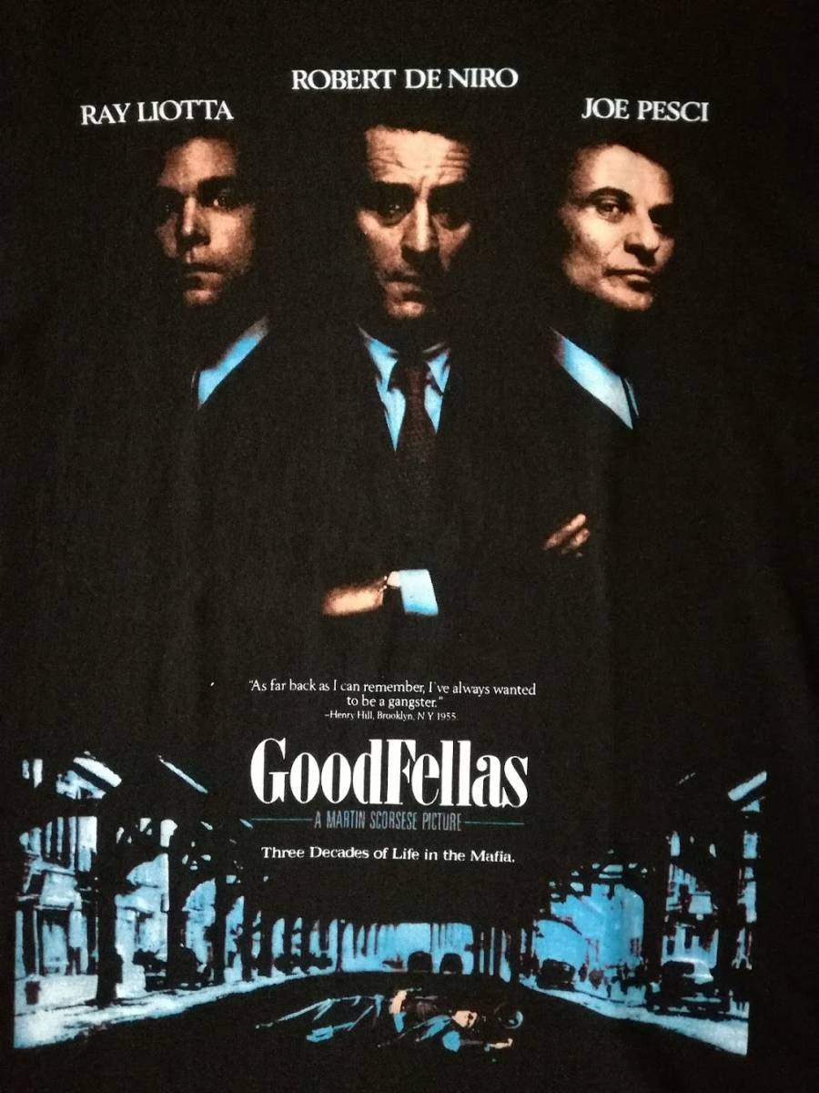 90s グッドフェローズ Goodfellas Tシャツ ロバート・デ・ニーロ 映画 hip hop SCARFACE 40ACRES wu-tang taxi driver supreme VINTAGE_画像2