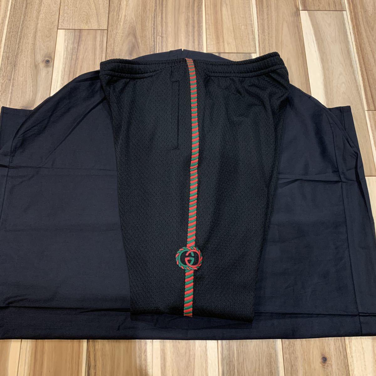 《値引交渉大歓迎》レア 新品 GUCCI グッチ 刺繍ライン ジャージ セットアップ ジャケット パンツ_画像7