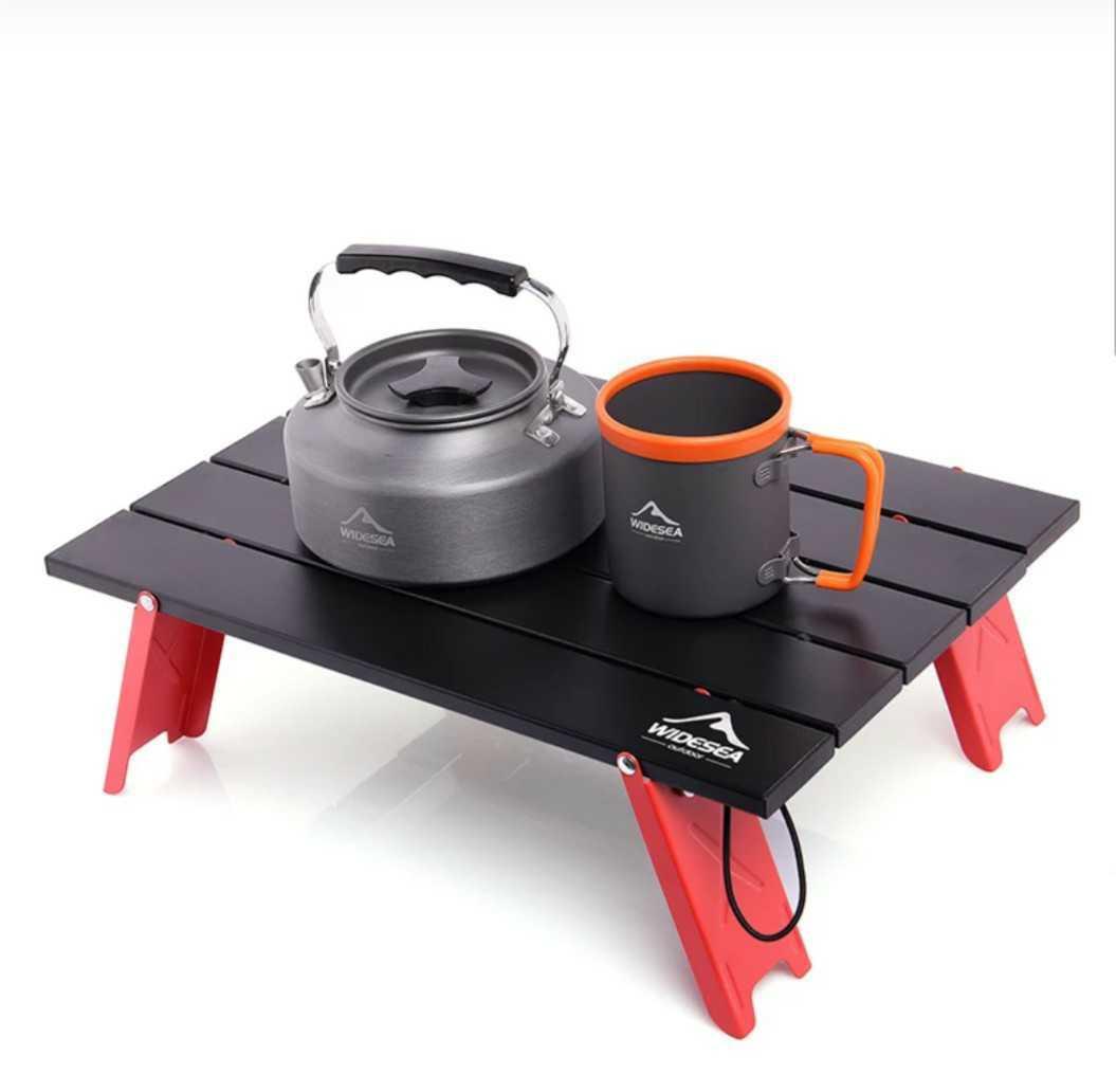 アルミテーブル ミニテーブル ローテーブル ケース付 アウトドア用 折り畳み式 ツーリング ソロキャンプ