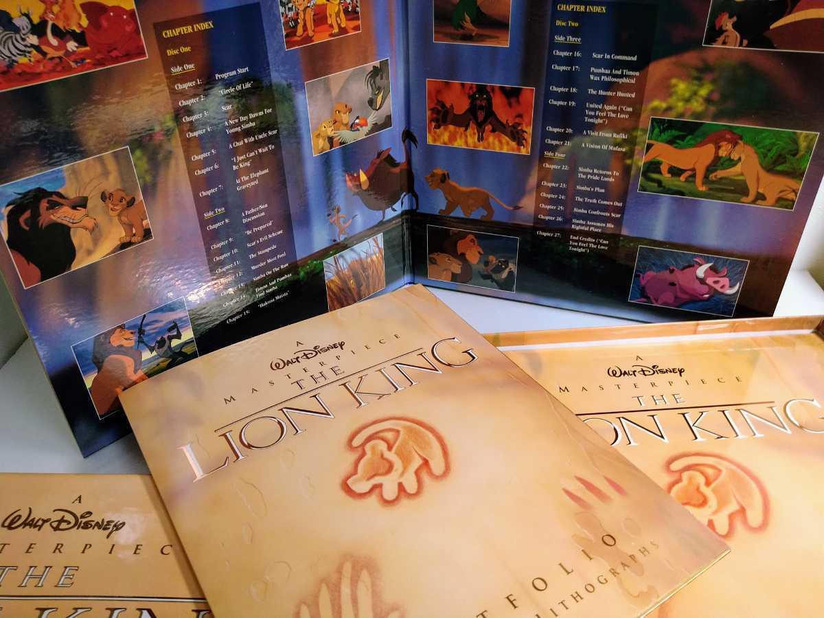 LD BOX 輸入盤 美品 ライオンキング LION KING イラスト画 Disney USA レーザーディスク _画像2