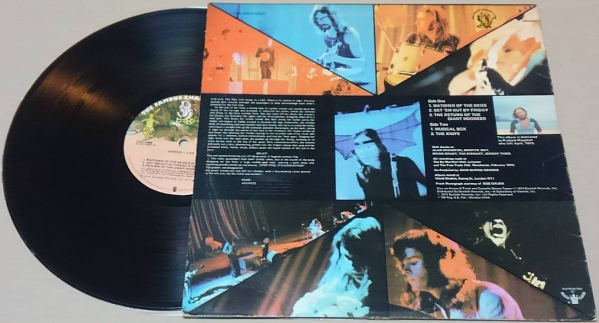 【LP】GENESIS / LIVE■US/カット盤/CAS-1666/75年再発盤■ジェネシス / ライヴ_画像3