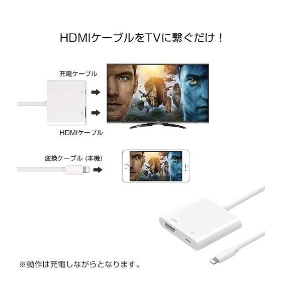 iPhone HDMI 変換 アダプタ ライトニング