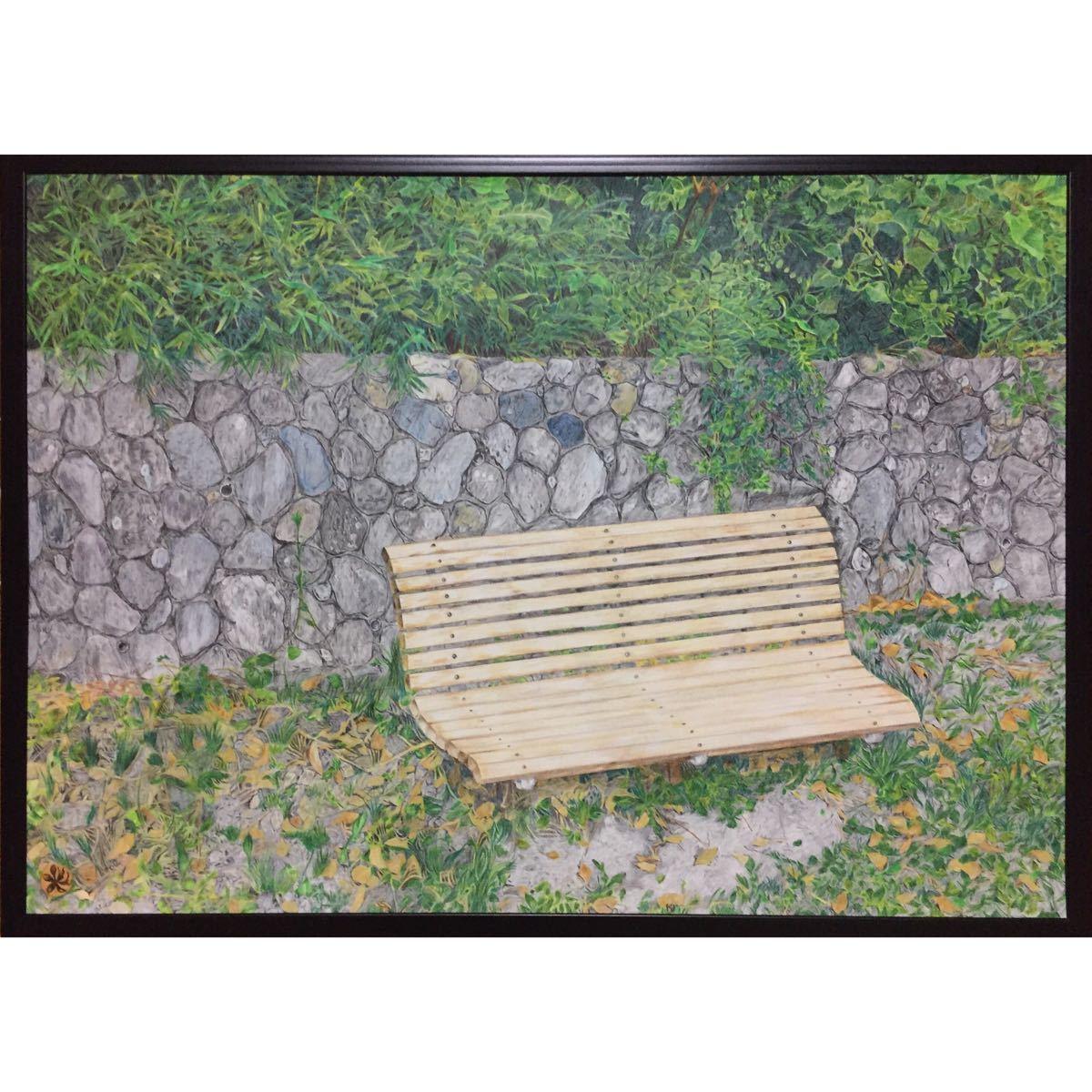 色鉛筆画「 通過点 」A2・額付き◇◆手描き◇原画◆風景画◇◆yotto_画像2