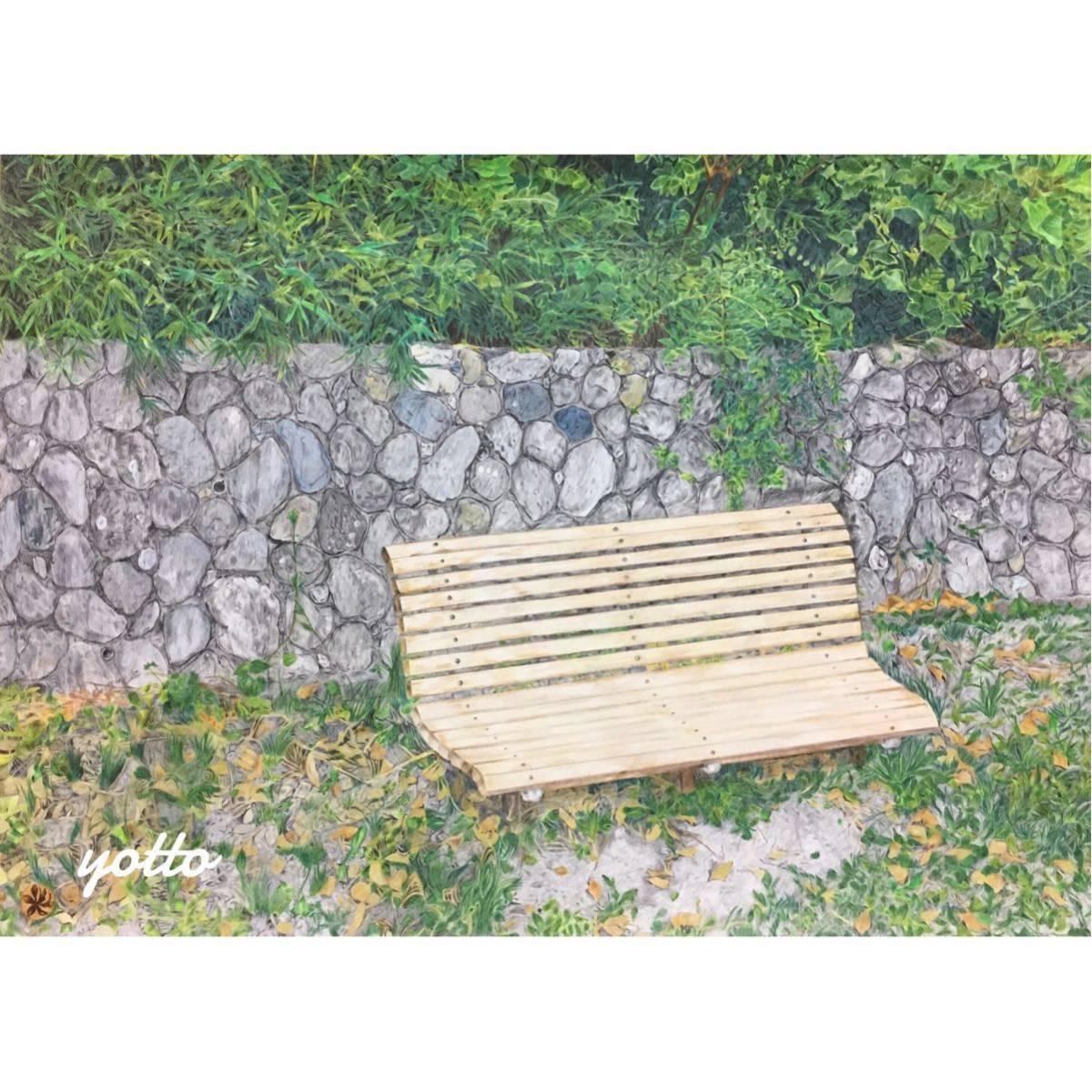 色鉛筆画「 通過点 」A2・額付き◇◆手描き◇原画◆風景画◇◆yotto_画像1