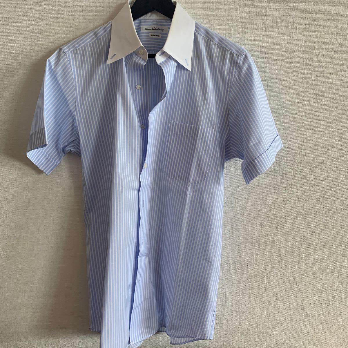 ボタンダウンシャツ 半袖 XL グリーンレーベル