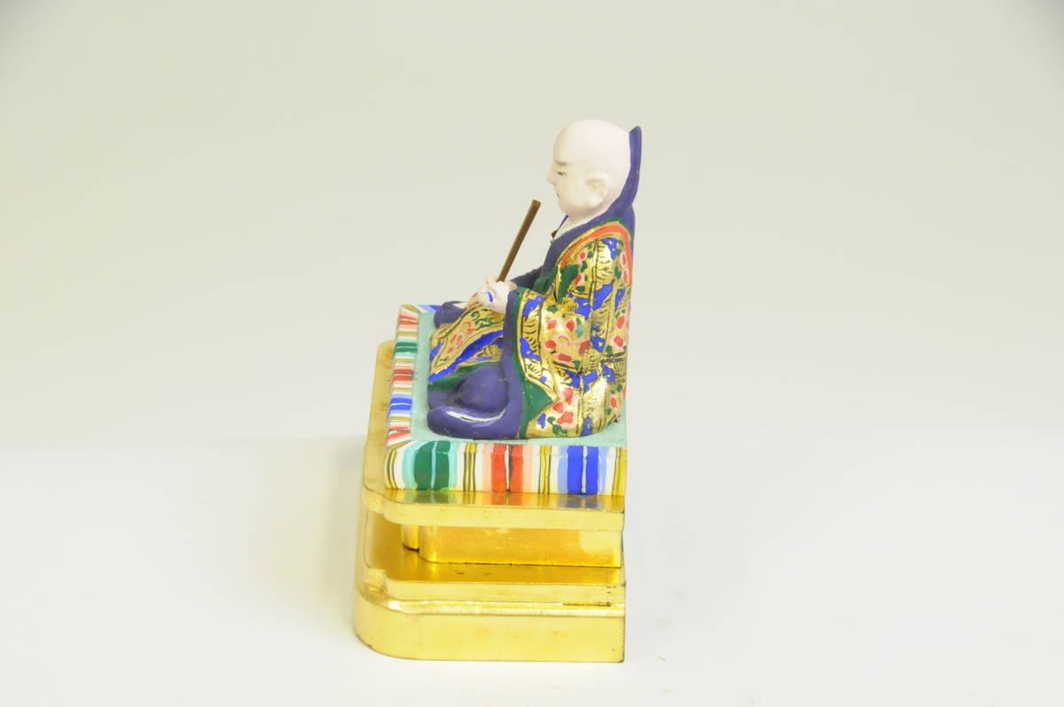 仏像 日蓮 木製 彩色 2寸_画像3