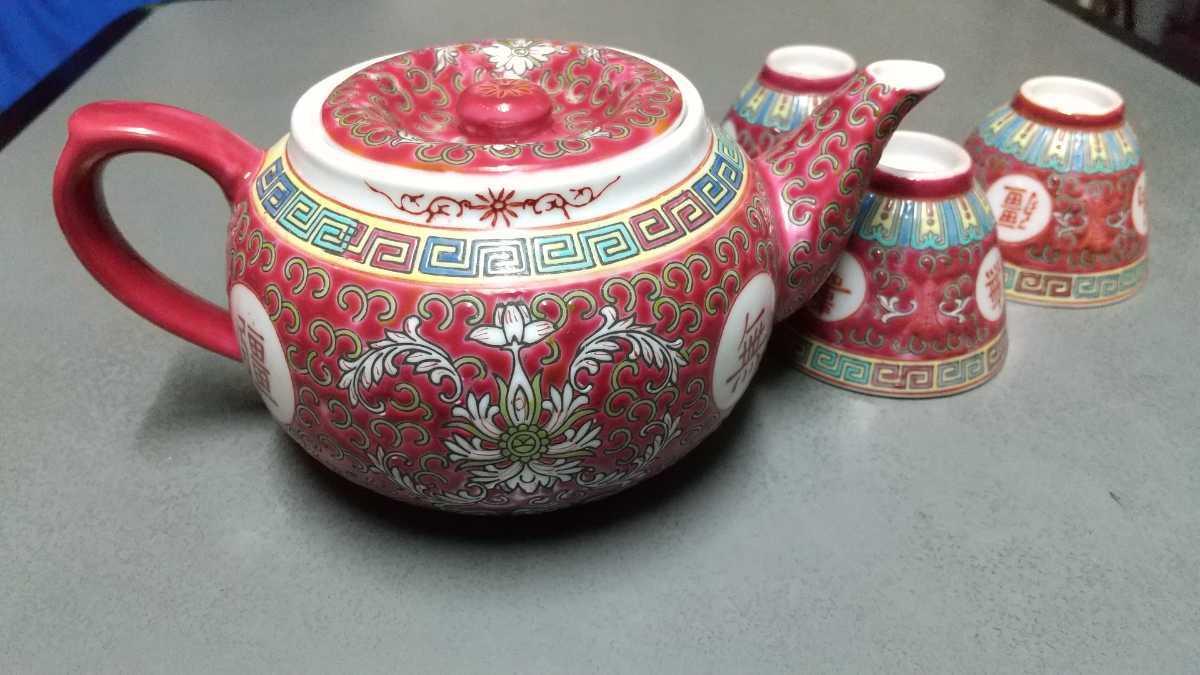 煎茶道具 急須 茶器 景徳鎮 茶器セット 古い 中国_画像5