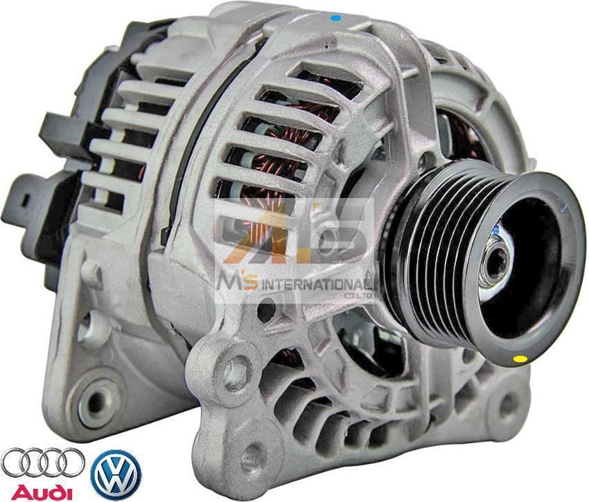 【M's】VW ニュービートル (9C/1C/1Y) ポロ (6N/6K/9N) トゥーラン (1T) シャラン (7M) オルタネーター // 純正OEM 028903028D 06A903026_画像1