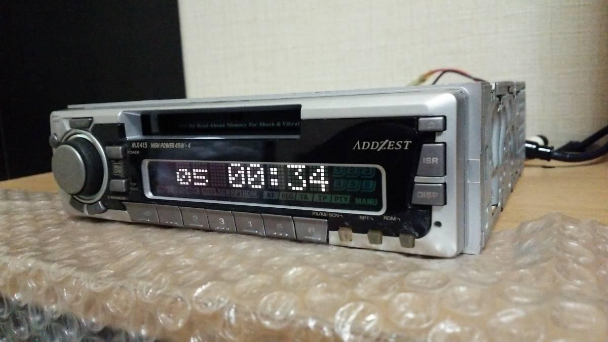ADDZEST アゼスト MDプレーヤー MDデッキ オーディオ MX415 1din 45W×4ch 動作OK 【AM/FM ラジオ チューナー ステレオ レシーバー_画像4