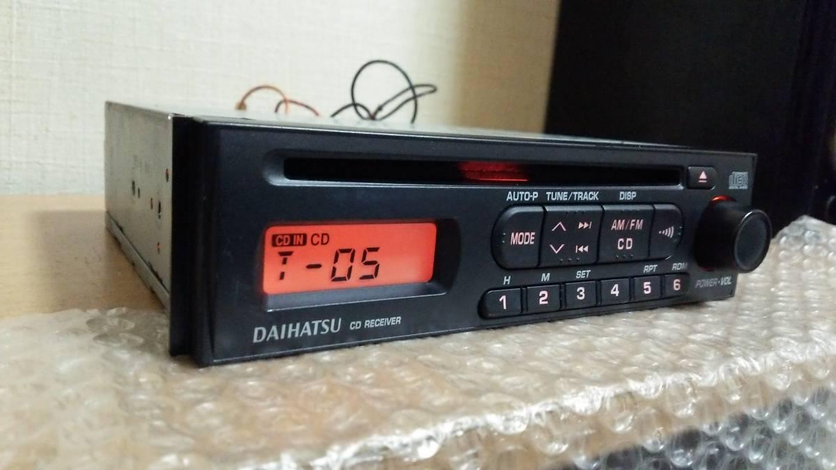 ダイハツ純正 CDデッキ CDプレーヤー オーディオ 86180-B2100 1din 動作OK 【AM/FM ラジオ チューナー ステレオ レシーバー ミラ タント等_画像3