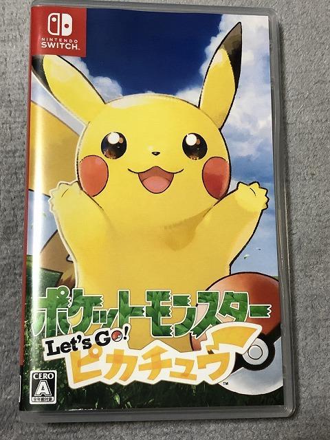 ニンテンドースイッチ ソフト 中古 ポケットモンスター Let's Go! ピカチュウ 動作良好 Nintendo Switch ポケモン 任天堂 純正 29060