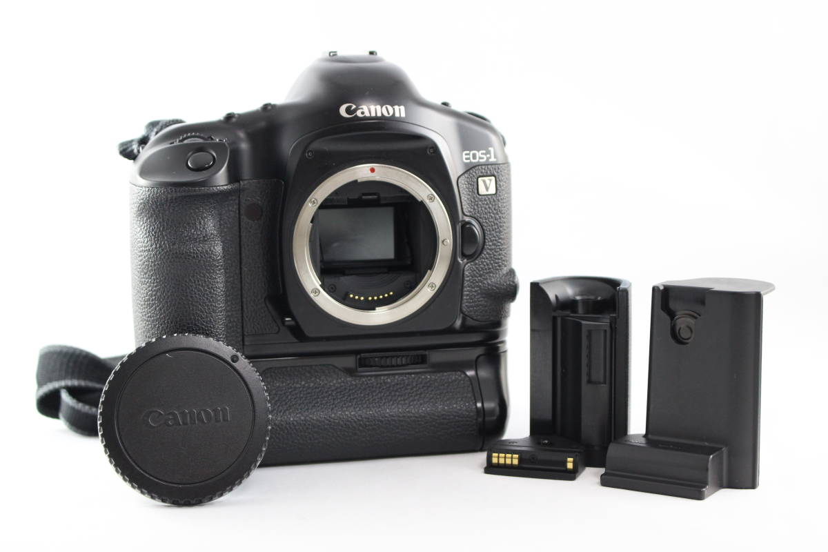 Canon EOS-1V 一眼レフ カメラ ボディ + PB-E2 POWER DRIVE BOOSTER パワードライブブースター その他 付属品付き 通電OK
