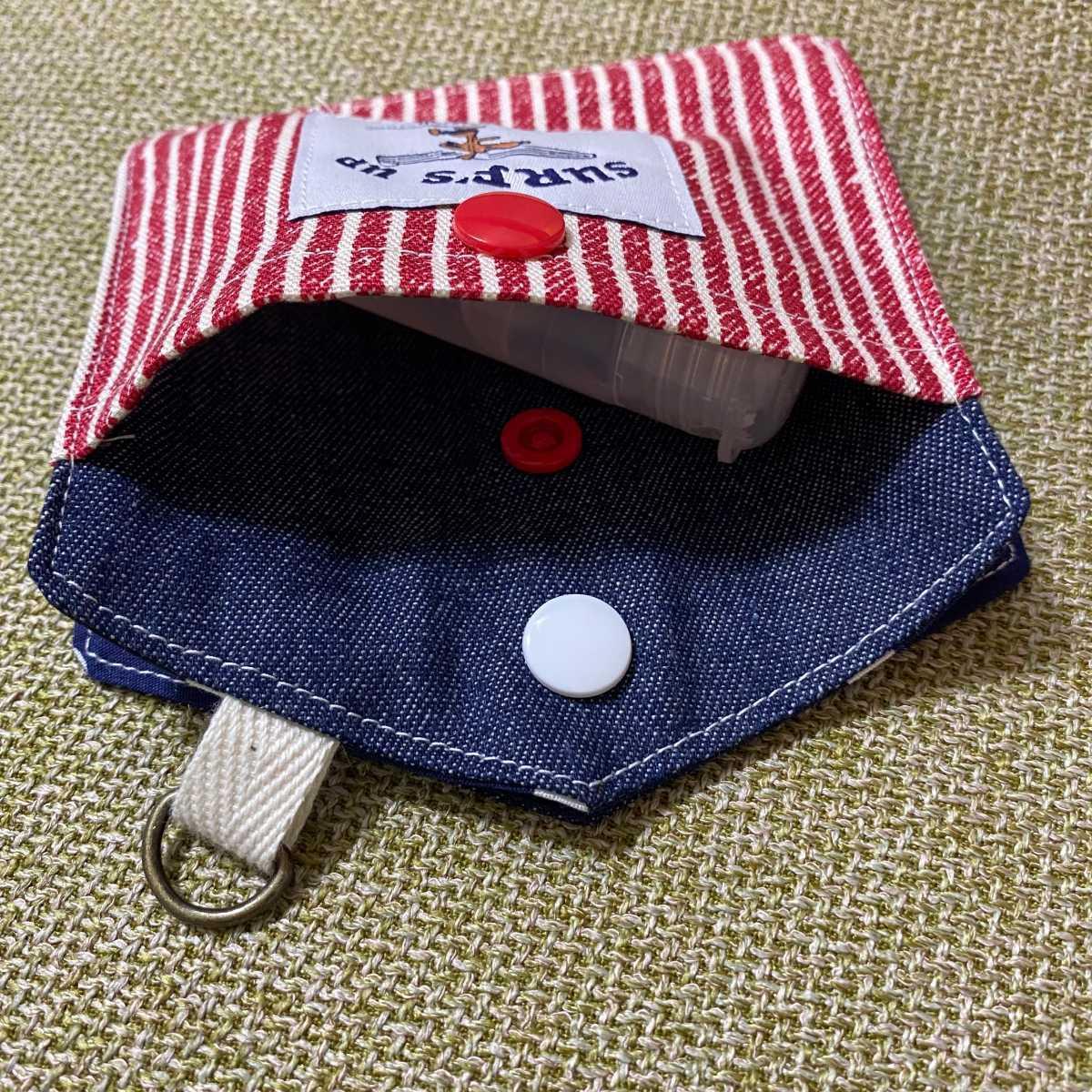 新デザイン ポケット付き original マスクケース 1 仮置きマスクポーチ 携帯用マスクケース スヌーピ柄 ハンドメイド SNOOPY_画像3