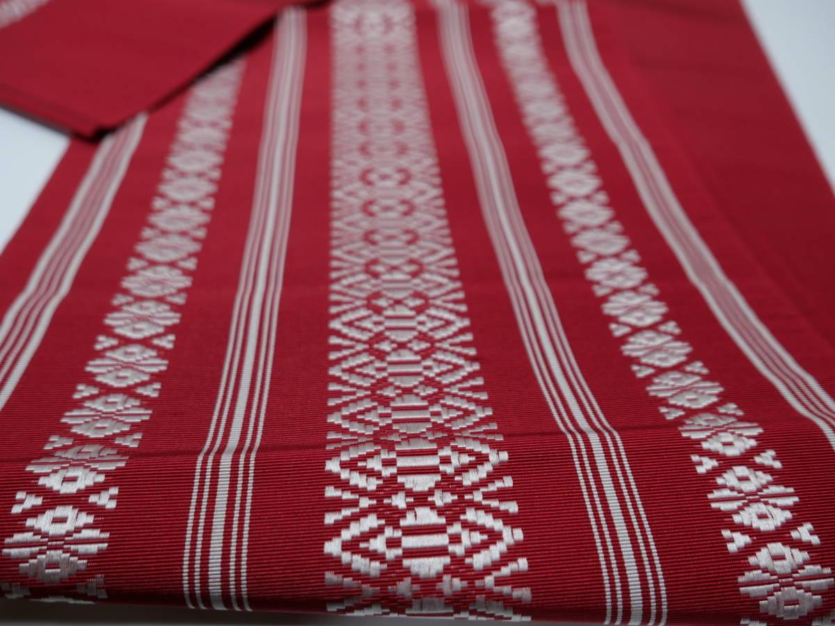 未使用 帯 着物 未仕立て 正絹 博多 名古屋帯 なごや帯_画像4