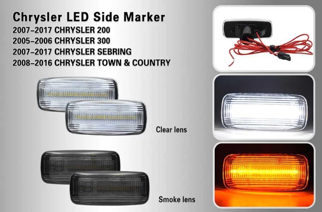 クライスラー 300c 05~11 フェンダー LED サイドウインカー マーカー_画像2