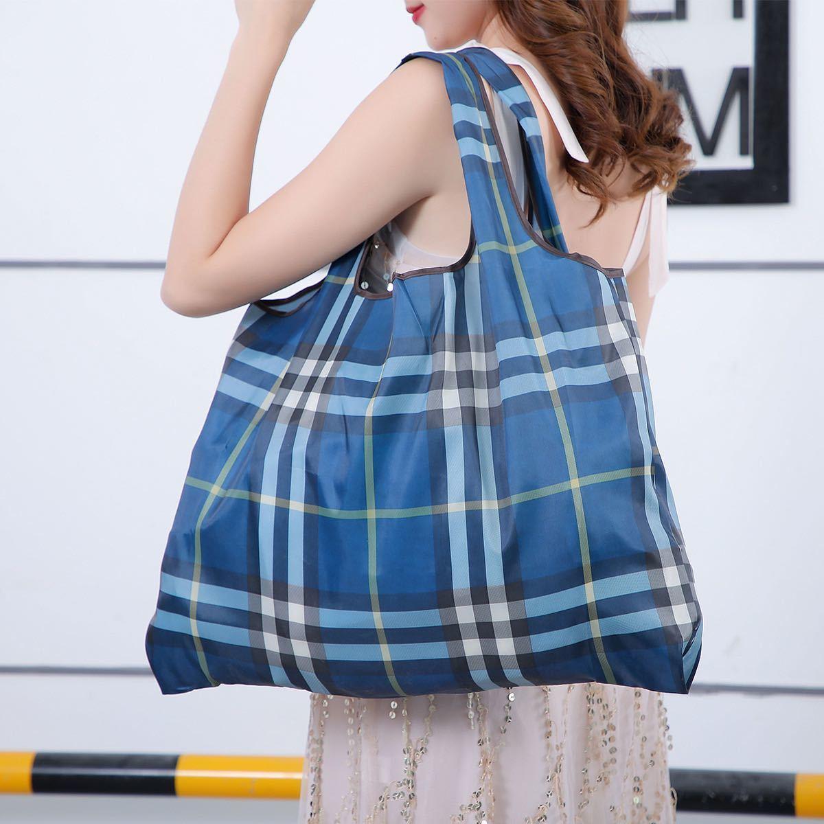 エコバッグ 折りたたみ 買い物袋 買い物バッグ 防水素材 大容量二枚セット