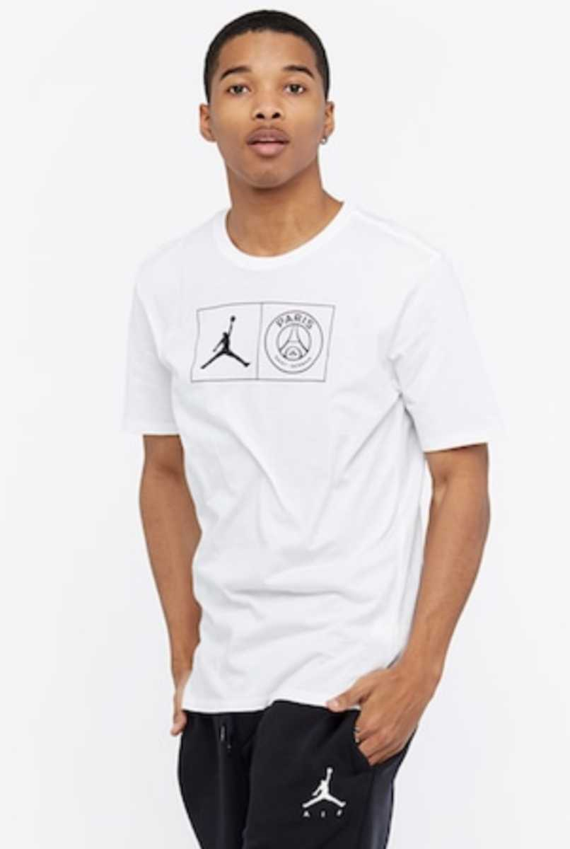 L NIKE AIR JORDAN×PSG JOCK TAG WHITE Tシャツ ナイキ パリサンジェルマン ジョーダン PARIS SAINT GERMAIN T-SHIRT