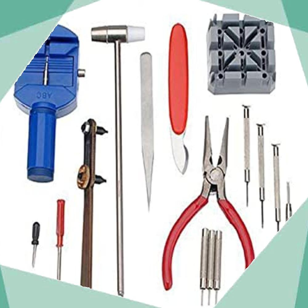 ◆新品即決!◇Salinr 腕時計 工具セット 時計修理ツール 時計修理 ベルトサイズ調整 工具 コマ調整 コマ外し 電池交換 _画像5