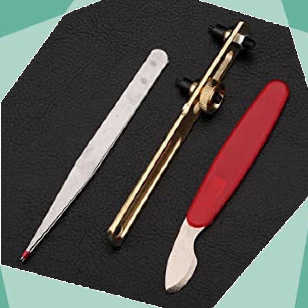 ◆新品即決!◇Salinr 腕時計 工具セット 時計修理ツール 時計修理 ベルトサイズ調整 工具 コマ調整 コマ外し 電池交換 _画像8