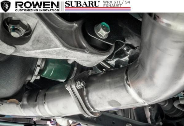 【M's】スバル WRX STI VAB専用 4本出し チタン マフラー ROWEN / ロエン 純正・ROWENリアバンパー対応 1S006Z02TR SUBARU_画像5