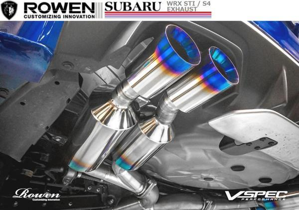 【M's】スバル WRX STI VAB専用 4本出し チタン マフラー ROWEN / ロエン 純正・ROWENリアバンパー対応 1S006Z02TR SUBARU_画像3