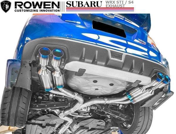 【M's】スバル WRX STI VAB専用 4本出し チタン マフラー ROWEN / ロエン 純正・ROWENリアバンパー対応 1S006Z02TR SUBARU_画像1